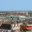vienna skyline from stephansdom — Stock Photo