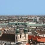 Vienna skyline from Stephansdom — Stock Photo