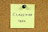 Classified — Stock Photo