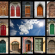 Doors and sky — Stock Photo