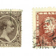Old stamps — Stock Photo