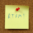 RTFM internet acronym — Stock Photo #4509942