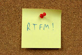 RTFM internet acronym — Stock Photo