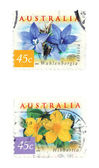 Australia stamps — Stock Photo