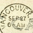 Vancouver stamp — Stock Photo