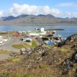 Iceland town — Stock Photo