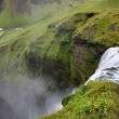 Skogafoss - famous waterfall near Skogar in Iceland. View from above. — Stock Photo #4519532