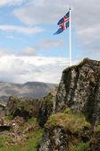 Islands flagga — Stockfoto