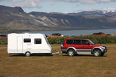 Kamping karavan — Stok fotoğraf