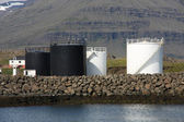 Fuel storage silos — Stock Photo