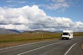 Autocaravana, islandia — Foto de Stock