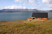 Fiord på island — Stockfoto