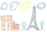 Paris-abbildung — Stockfoto