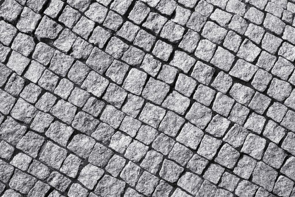 Granite cobble bricks floor. Architecture background texture. — Stock Photo #4519214