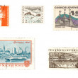 Various European stamps — Stock Photo