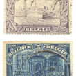 Vintage Belgian stamps — Stock Photo