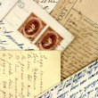 Postcards and arabic stamps — Stock Photo