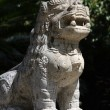 Stock Photo: Asian lion statue