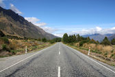 Straight road in New Zealand — Stock Photo