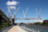 Brisbane bridge construction — Stock Photo