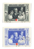 Belgian stamps — Stock Photo