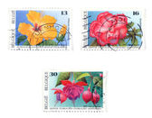 Collectible postage stamps — 图库照片