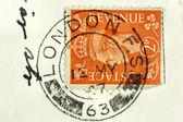 London post stamp — Stock Photo