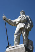 Antarctic explorer statue — Stock Photo
