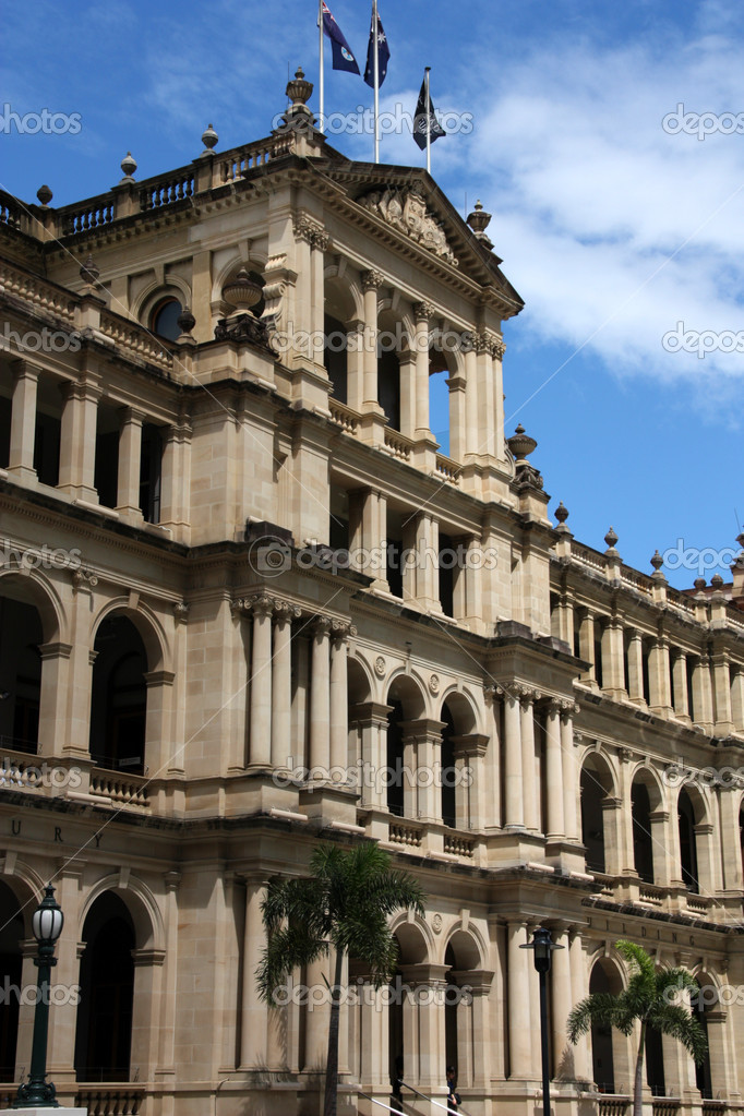 The former Queensland Government Treasury Building in Brisbane, Queensland, Australia.  Stock Photo #4526824