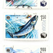 Stock Photo: Post stamps with angling and fish