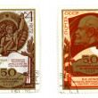 Lenin on vintage postage stamps — Stock Photo