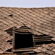 Damaged roof — Stock Photo #4531928