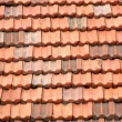 Ceramic tiles roof background — Stock Photo