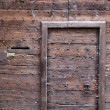 Retro wooden oak door — Stock Photo
