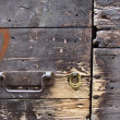 Very old gate and keyhole — Stock Photo