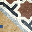Decorative floor mosaic — Stock Photo