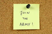Army career — Stock Photo
