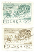 Vintage postage stamps from Poland — Stock Photo