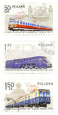 Railway collection - post stamps — Stock Photo