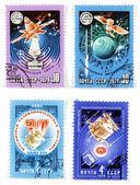 Space exploration Soviet collectibles — Stock Photo