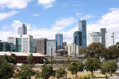 Melbourne skyline — Stock Photo