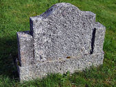 Old empty gravestone — Stock Photo