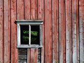Empty window in old building — Stock Photo