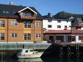 Quaint fishing village in Norway — Stock Photo
