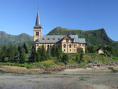 Church in Norwegian mountains — Stock Photo