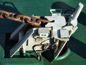 Anchor winder device on a ship — Stock Photo