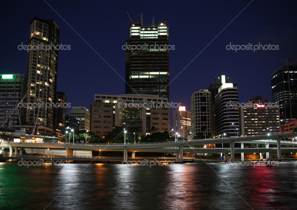 Financial district skyscrapers in Brisbane, Queensland, Australia. — Stock Photo #4531477