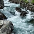 Rapid river in mountains — Stock Photo