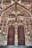 Cathedral door in Salamanca — Stock Photo