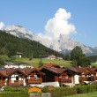 Alpine town - Foto Stock